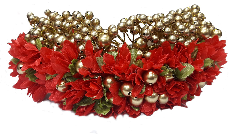Amazon majik bridal gajra veni hair accessories for bun amazon majik bridal gajra veni hair accessories for bun decorations free hair donut 18 cm red beauty izmirmasajfo