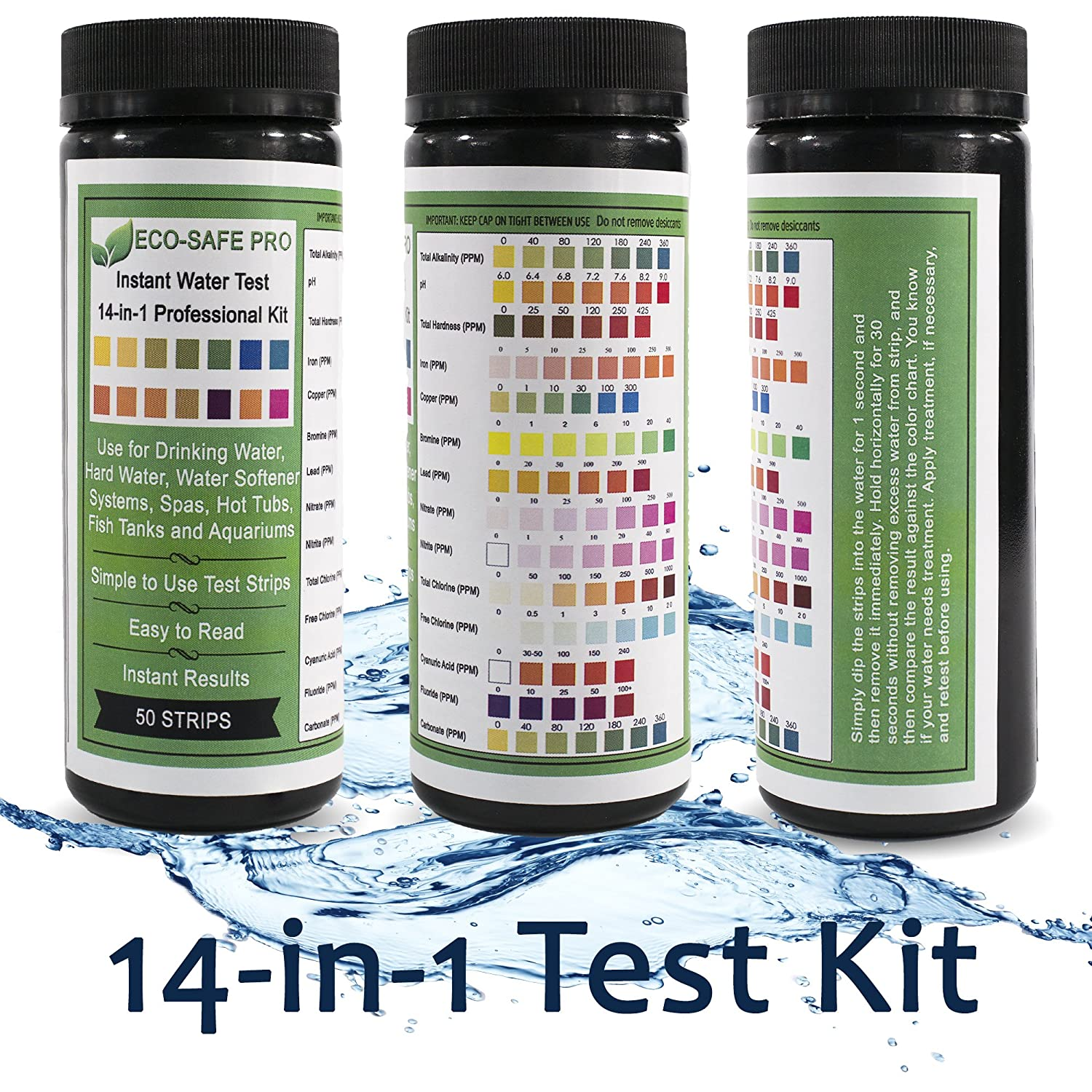 Amazon Water Test Strip Kit 9 & 14 Way Drinking Water Quality