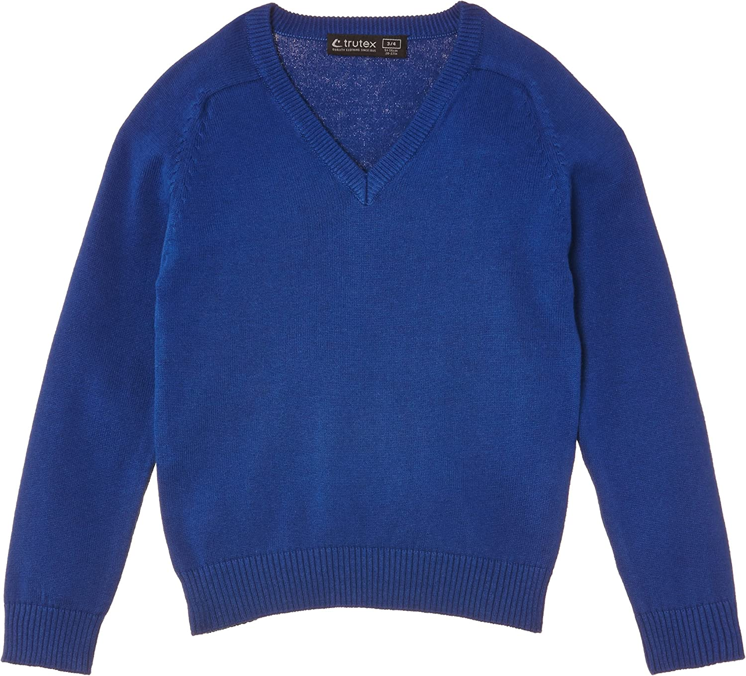 14 Years Manufacturer Size: Medium Royal Trutex Girls Cotton V Neck Jumper