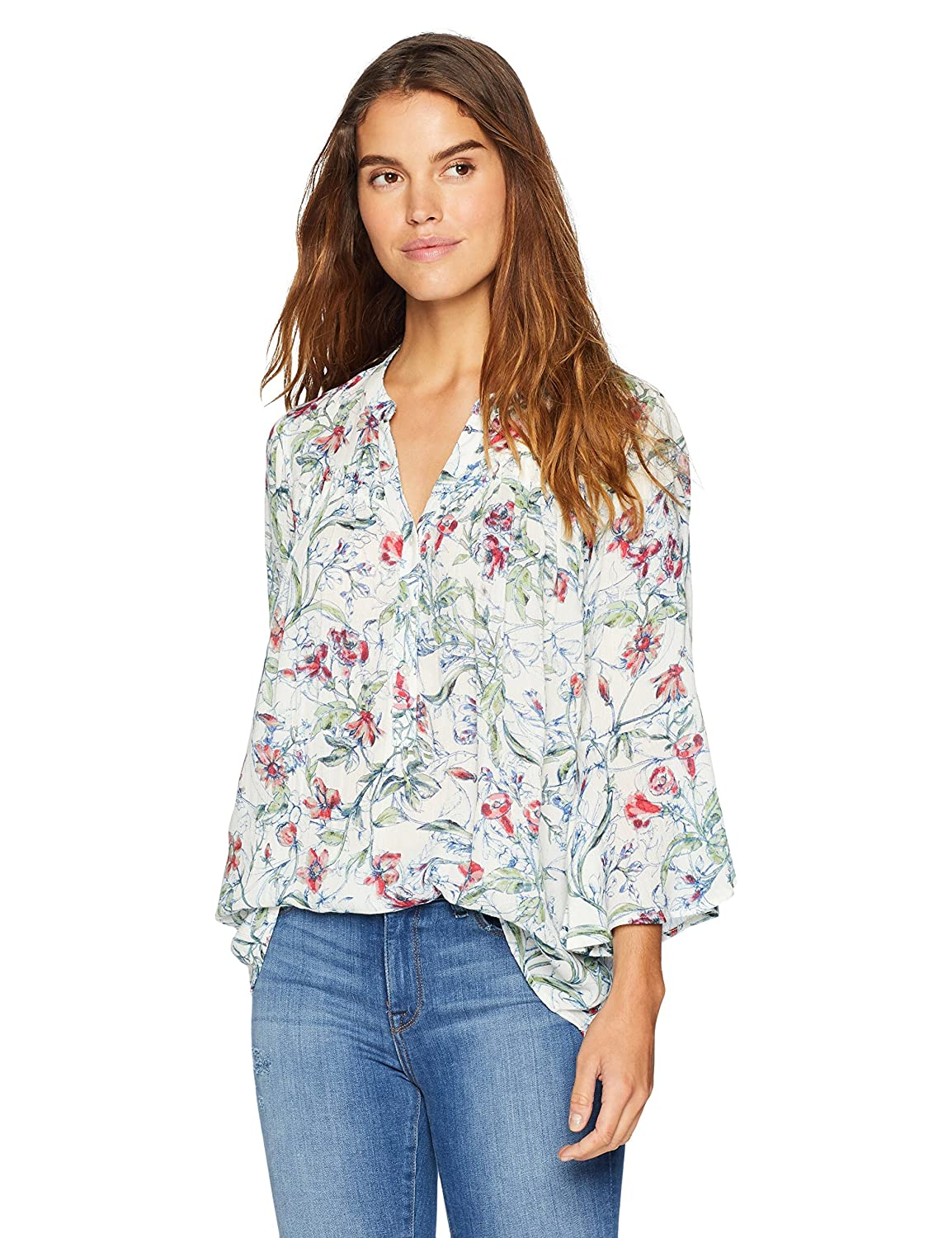 389f08cd09d21 Nine West Women s Marlene Flare Sleeve Blouse  Amazon.co.uk  Clothing