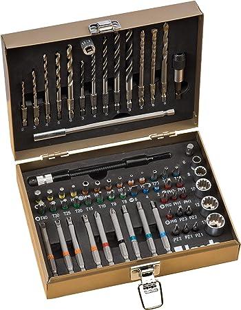 Bosch Bohrer-Bit-Set Professional Metall 35-teilig Schlitz Kreuz Torx Metall Box