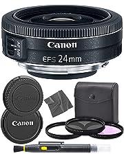 AOM Canon EF-S 24 mm f/2.8 STM: (9522B002) Lente Pro Starter Kit Bundle – Versión Internacional (1 año de garantía