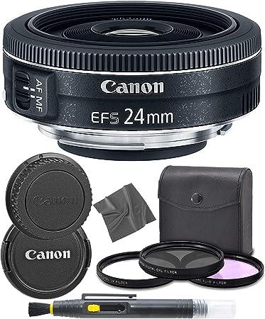 9522B002 International Version Canon/EF-S 24mm f//2.8 STM: 1 Year AOM Warranty Lens AOM Pro Starter Kit Bundle
