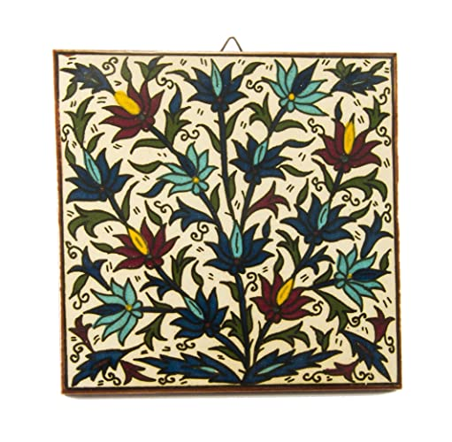Amazon.com: Armenian ceramic tile wall decor holy land tiles hand ...