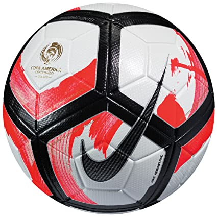 release date: 93912 faa94 Amazon.com   Nike Ordem Ciento Copa America Official Match Soccer Ball  (White, Red, Black)   Sports   Outdoors