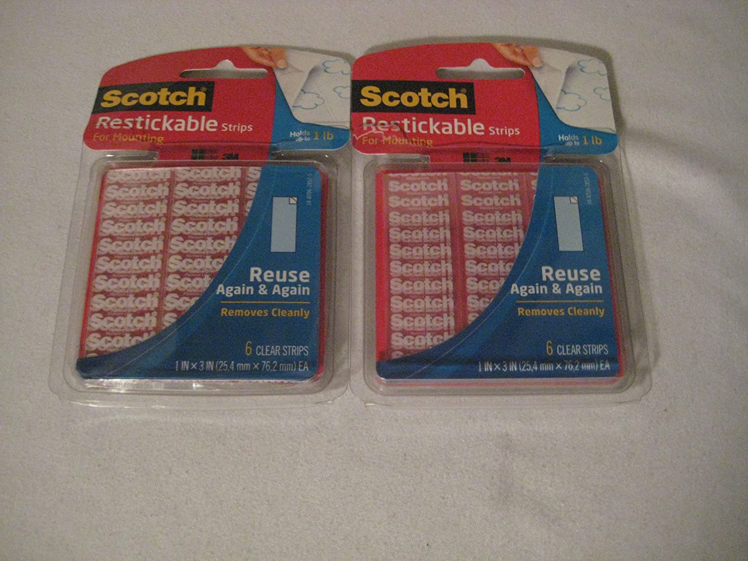 Scotch Restickable Mounting Tabs, 6/Pack [Set of 2]