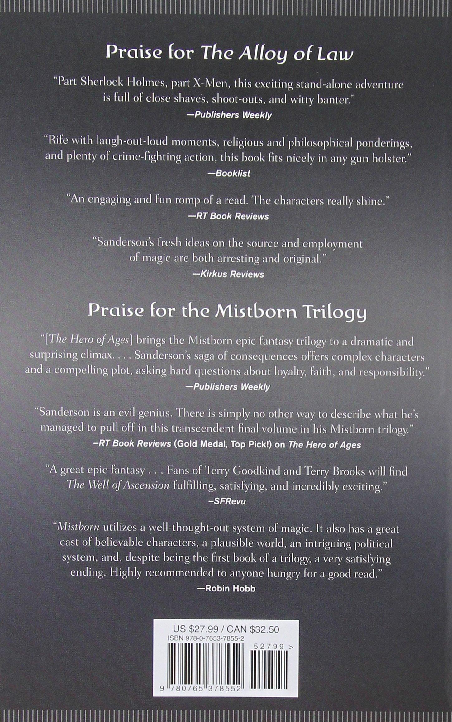 Shadows Of Self: A Mistborn Novel: Brandon Sanderson: 9780765378552:  Amazon: Books