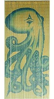 Tachilc Bamboo Door Bead Curtain Wall Art Window Treatment Room Divider U2013  Octopus