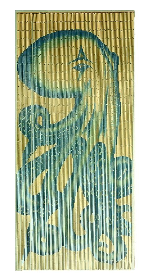 Charmant Tachilc Bamboo Door Bead Curtain Wall Art Window Treatment Room Divider U2013  Octopus