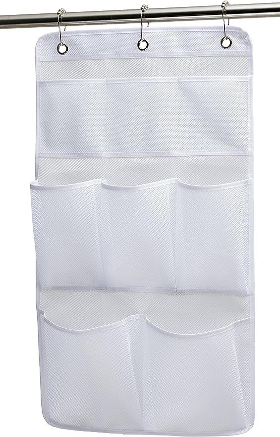 2//5//6//7 Pocket Shower Organizer Bathroom Caddy Tub Bath Hanging Mesh Storage Bag