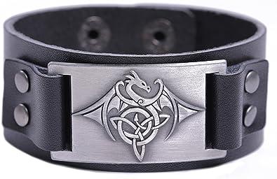 Fashion Vintage Leather Cross Bracelet Cuff Charm Bangle For Men Women K6