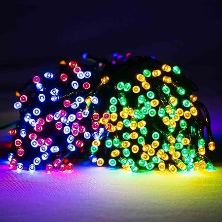 Image Unavailable - 600 Multi Coloured LED Supabright Christmas Lights (Static): Amazon