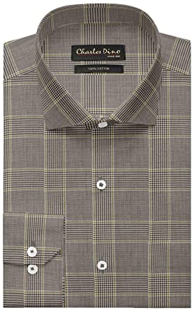 ae4c71dacea Mens 100% Giza Cotton Regular FIT Brown Checkered Shirt for Casual WEAR for  Men