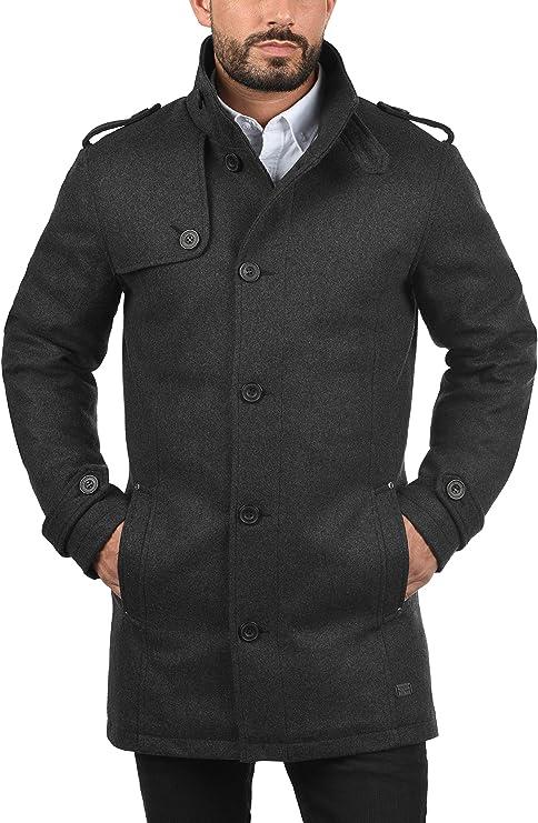 BLEND Warren hommes manteau en laine veste longue en mélange