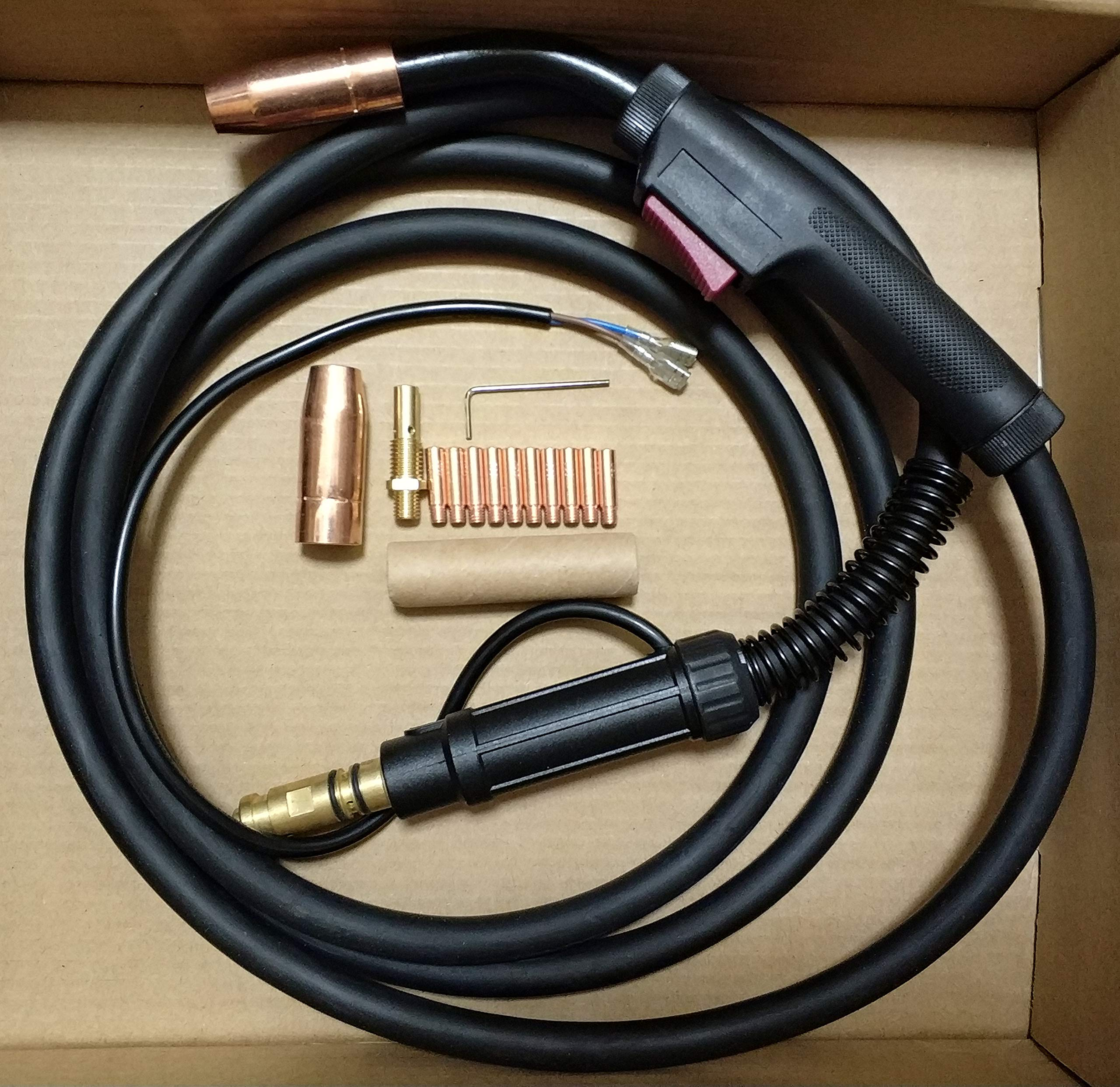 MIG WELDING GUN &TORCH 10' 150AMP replacement for LINCOLN Magnum 100L K530-5 (ETA:5-7 WORK DAYS)