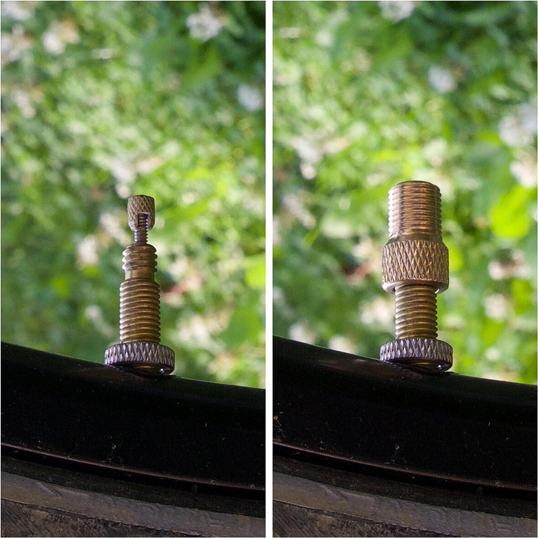 Presta valve to Schrader Dunlop car valve Woods 1 x bicycle valve adapter Sclaverand with sealing ring