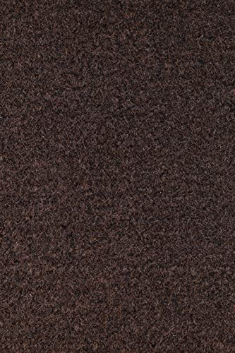 Ambiant Broadway Collection Solid Color Area Rugs with Rubber Marine Backing for Patio, Porch, Deck, Boat, Basement or Garage with Premium Bound Polyester Edges Chocolate 4 X6