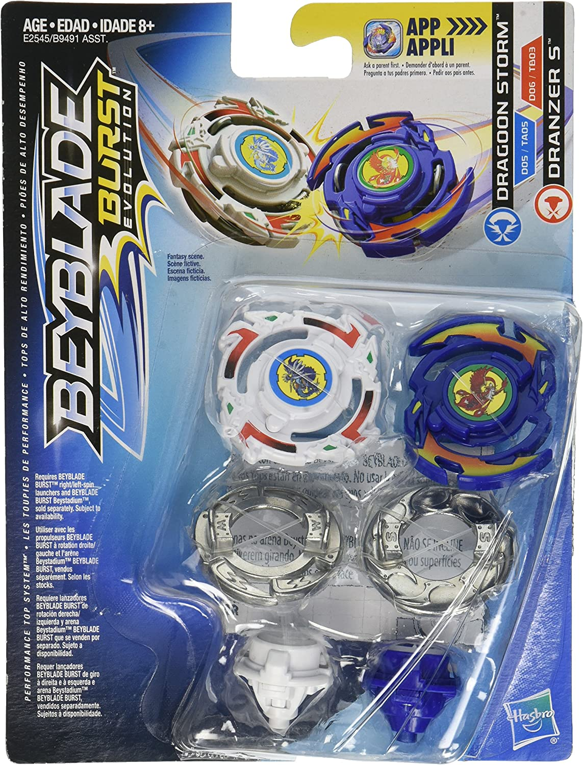 Hasbro Beyblade Burst Evolution Dual Pack Dragoon Storm and ...