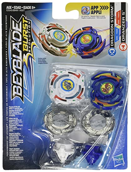 Amazoncom Beyblade Burst Evolution Dual Pack Dragoon Storm And