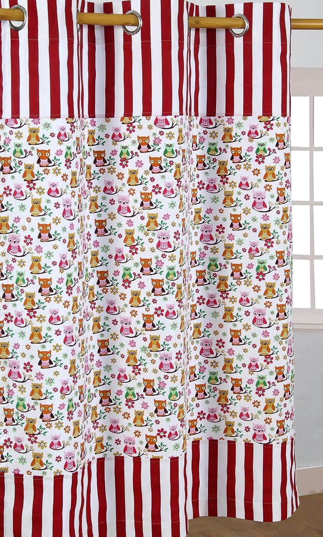 Homescapes – Paire de rideaux à œillets 100% coton – Étoiles Beige – Prêt à poser 117 x 137 cm