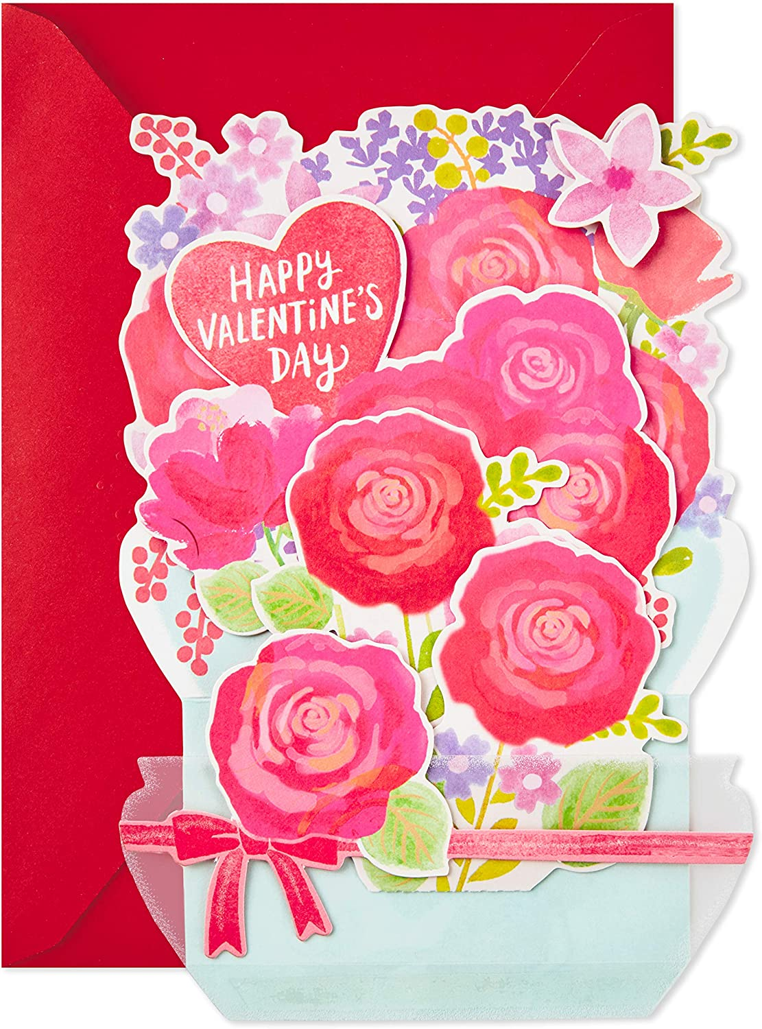 Hallmark Paper Wonder Displayable Pop Up Valentines Day Card for Significant Other Fish Bowl Valentine