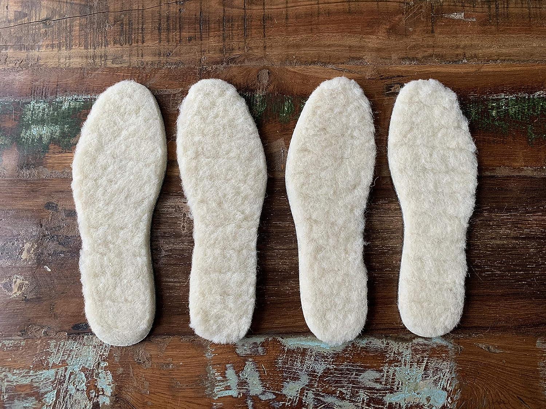 biped Set de 2 paires Semelles /à base de laine d/'agneau extra /épaisse avec fond feutre z1004