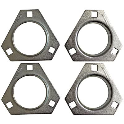 "Set of 2-1"" 3-Hole Bearing Flangette Pairs Go Kart Drift Trike 4 Halves Complete Set: Automotive"