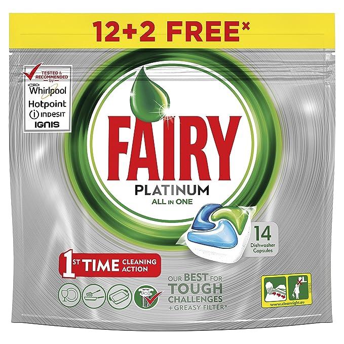 Fairy Platinum Cápsulas Todo en 1 para Lavavajillas - 13 cápsulas (12+1)