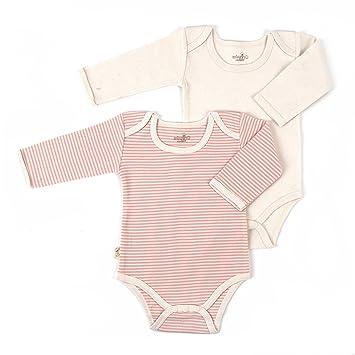 6b3e9a76b322 Amazon.com  Tadpoles Organic Long Sleeve Pinstripe Bodysuits - Set ...
