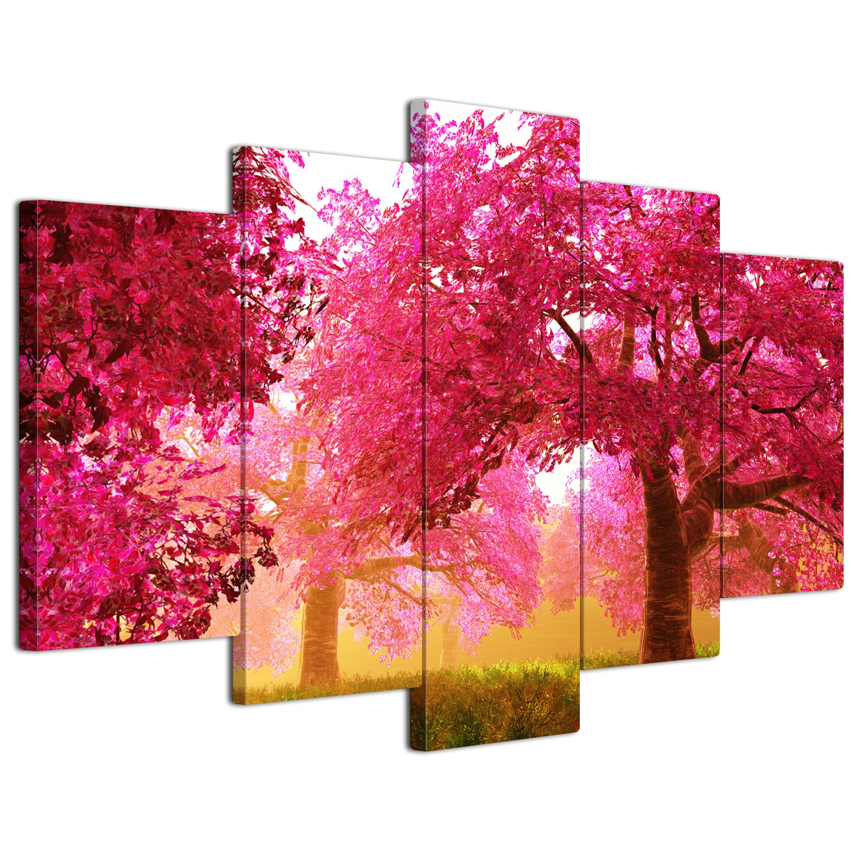 【リブラLibra】 5パネルセット アートパネル インテリアアート「林森」 キャンバス絵画 (木枠付きの完成品) (L, LP1720) B075STRTK3 Large|LP1720 LP1720 Large
