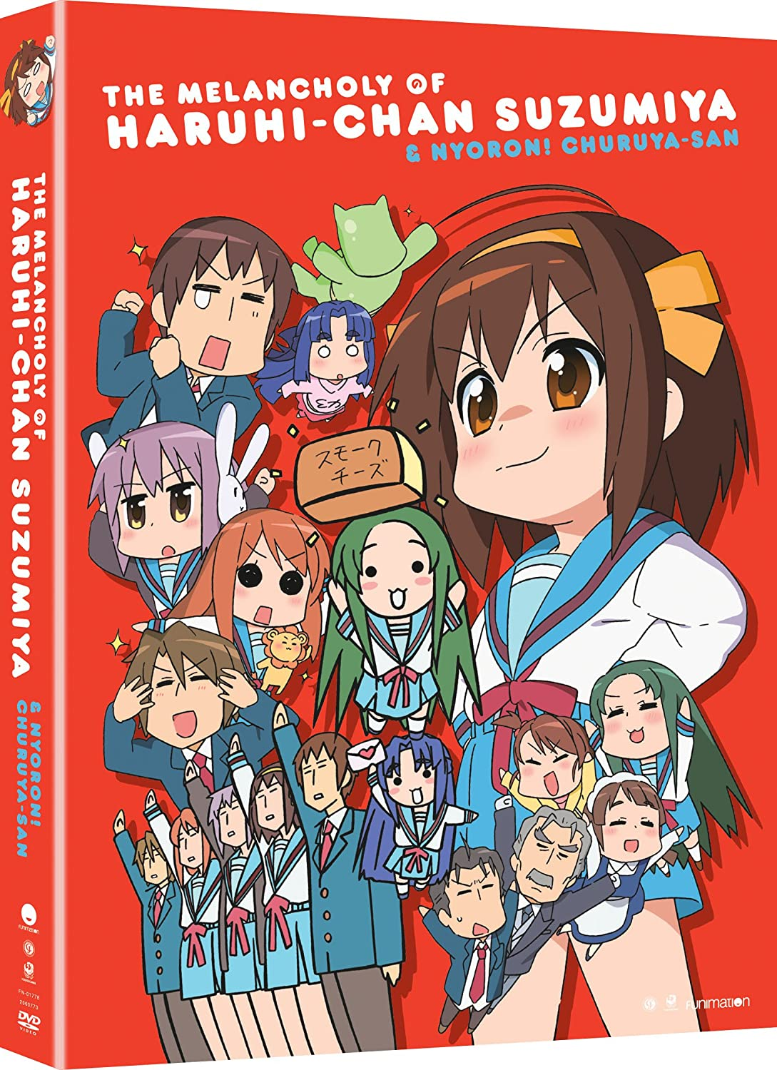 The Melancholy of Haruhi-chan Suzumiya & Nyoro~n Churuya-san: The Complete Series Wendee Lee Funimation! 42925633 Anime / Japanimation