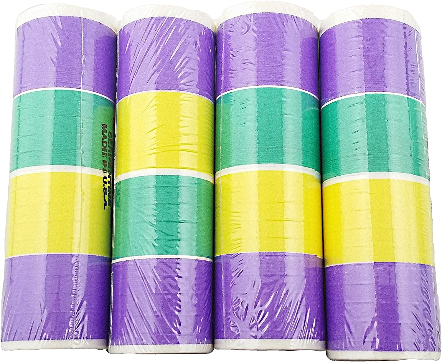 4 Rolls of 4th of July Party Serpentine Throws
