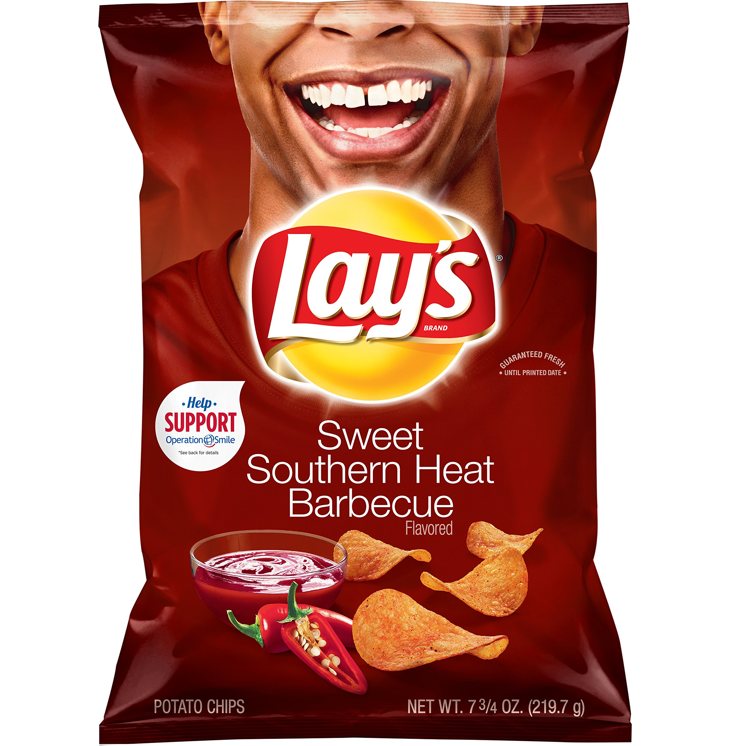 Lay's Potato Chips, Sweet Southern Heat BBQ, 7.75 Ounce