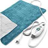 """Pure Enrichment PureRelief XL (12""""x24"""") Electric Heating Pad for Back Pain and Cramps - Ultra-Soft with 6 Temperature…"""