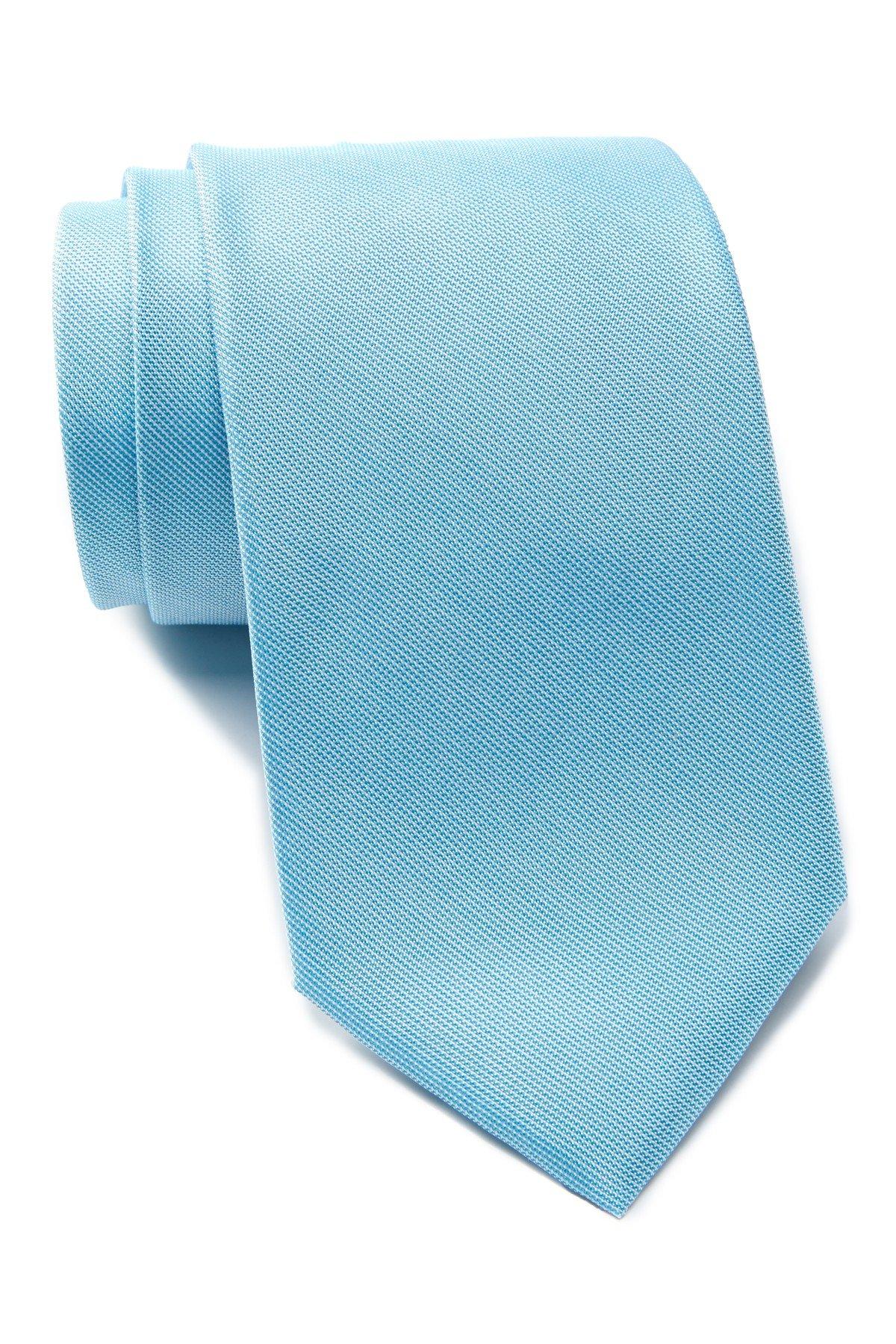 Ben Sherman Men's Spring Solids Silk Tie (Aqua)