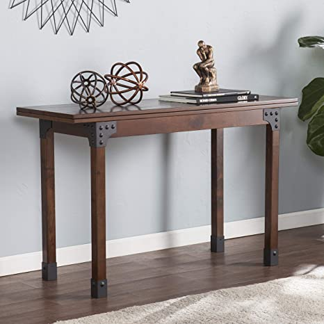 Amazon Com Daveron Flip Top Console To Dining Table Tables