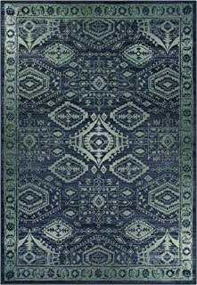 product image for Maples Rugs Georgina Traditional Area Rugs for Living Room & Bedroom [Made in USA], 7 x 10, Navy Blue/Green