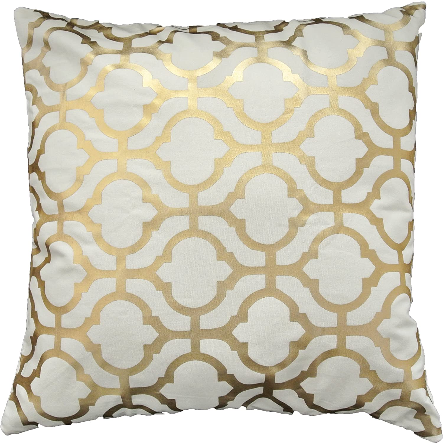Amazon.com: Gold Foil Geometric Print Decorative Throw Pillow ...