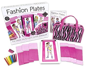 "Durable Girls Fashion Plates Super Star Deluxe Kit 13/"" x 2/"" x 12/"" Ages 6+"