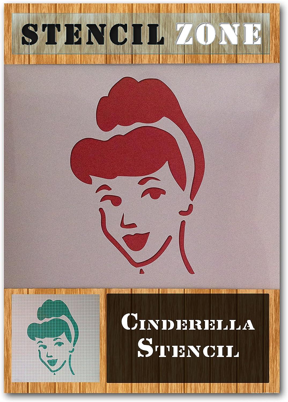 A4 Gr/ö/ße Stencil - Small Aschenputtel Prinzessin Magische Gesicht Mylar Airbrush Malerei Wand-Kunst-Handwerk-Schablone