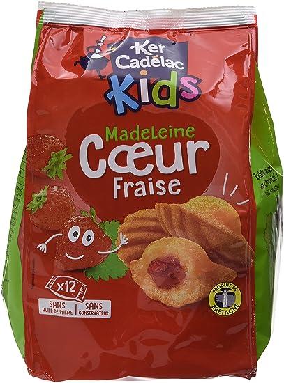 KER CADELAC Sachet de 12 Madeleines Cœur Fraise 35 g - Lot de 3 ... c0f7b751b5f