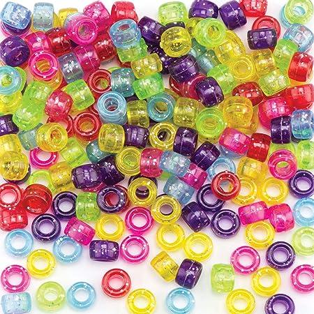 Baker Ross Cuentas de purpurina de colores que los niños pueden usar para bisutería, manualidades con cuentas y collages (pack de 380): Amazon.es: Hogar