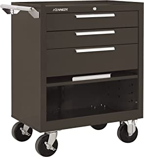 product image for Kennedy Manufacturing 273B 3-Drawer Roller Tool Cabinet With Chest Wheels And Friction Slides, Brown Wrinkle