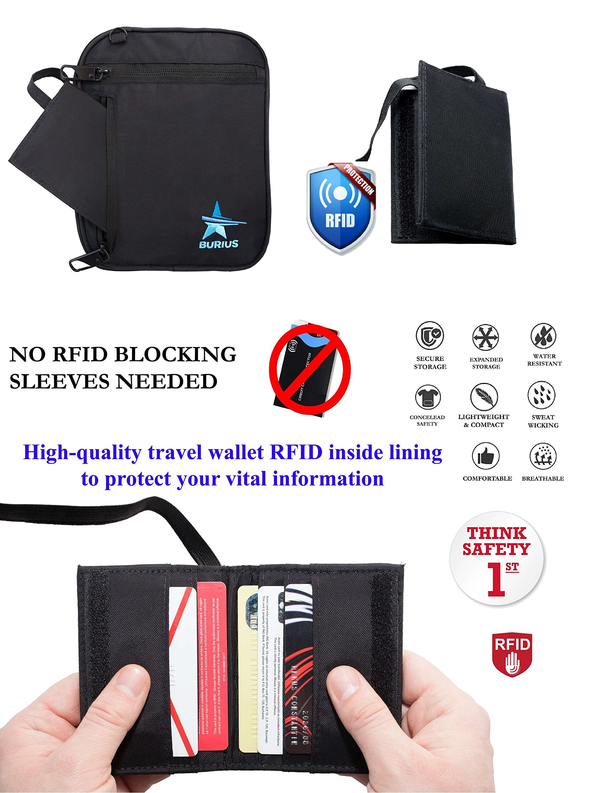 Travel Money Belt: Anti Theft Neck Pouch With Secure Travel Wallet RFID Blocking Made For Your Safety Protection and Comfort - Best Passport Bag Holder For Travelling Ease