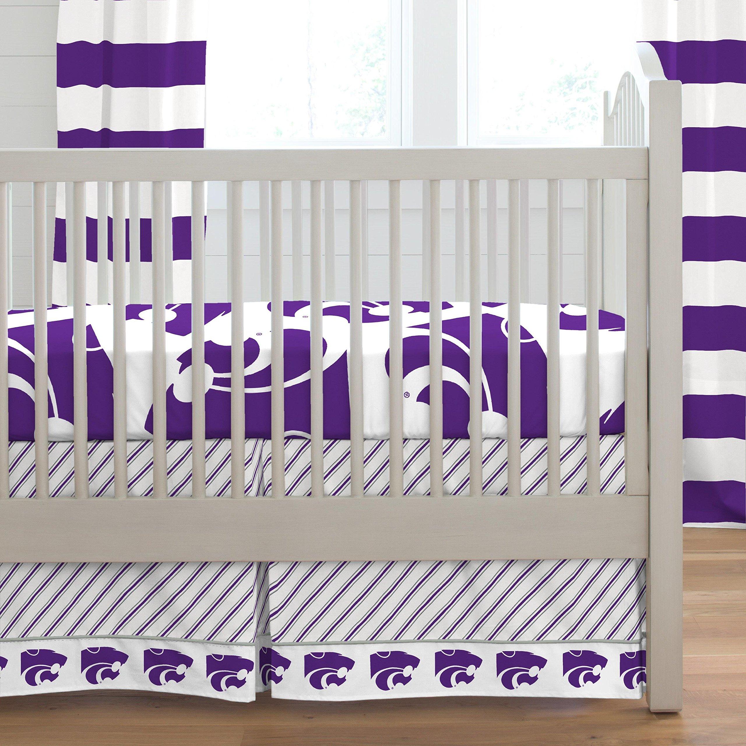 Carousel Designs Kansas State Crib Skirt Box Pleat 20-Inch Length