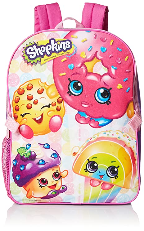 Shopkins Little Girls Backpack with Lunch fd72edfae2df3