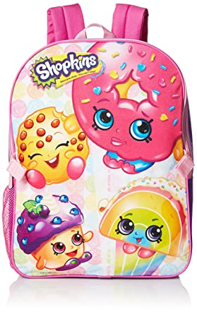 Amazon.com | Shopkins Little Girls Backpack with Lunch, Pink, One ...