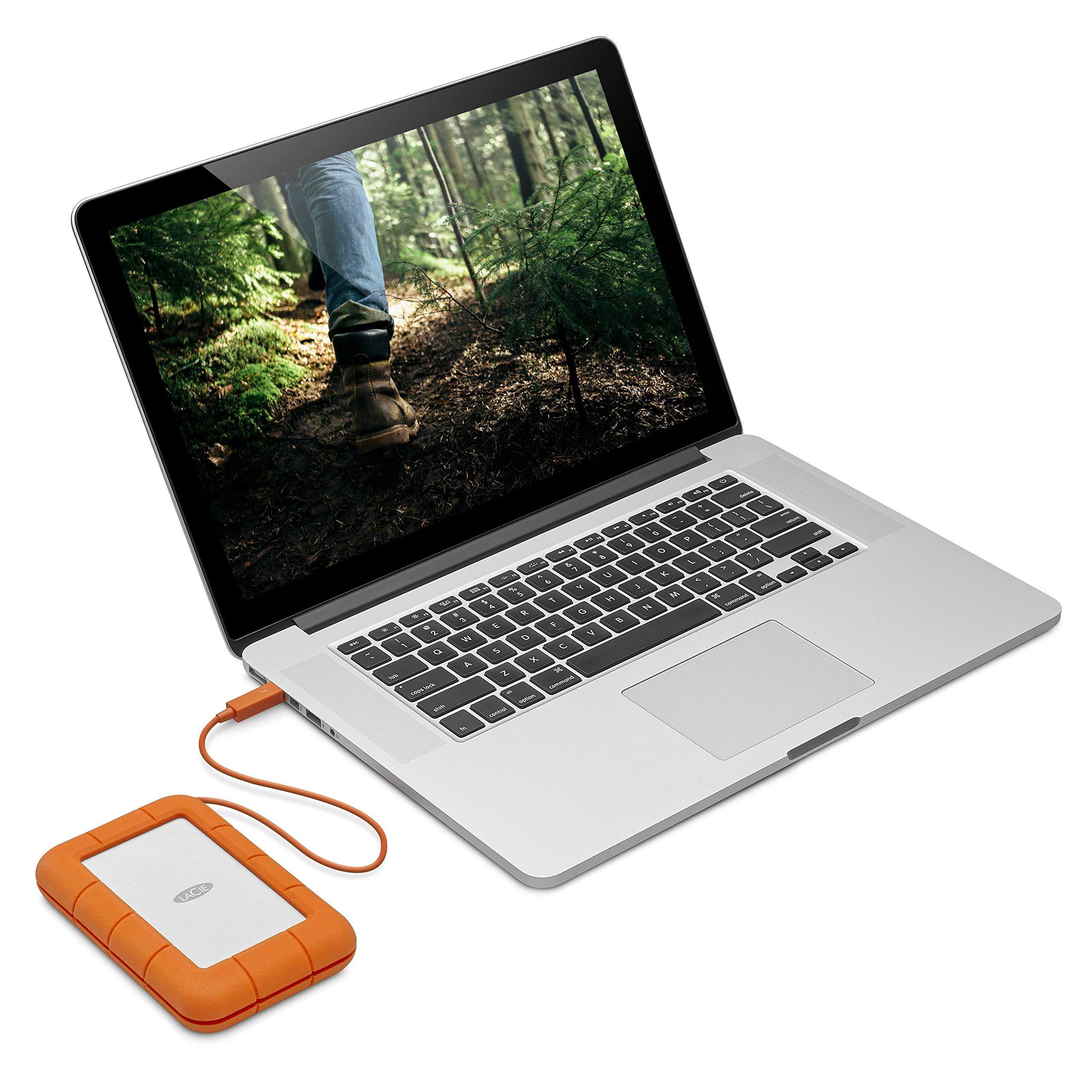 LaCie Rugged 2TB Thunderbolt USB-C Portable Hard Drive (STFS2000800) (Renewed) by LaCie (Image #6)