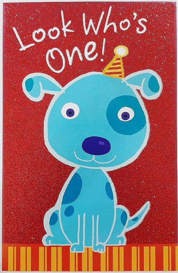 Happy 1st Turning 1 Birthday Fuzzy Yellow Duck In Pond Hallmark Greeting Card