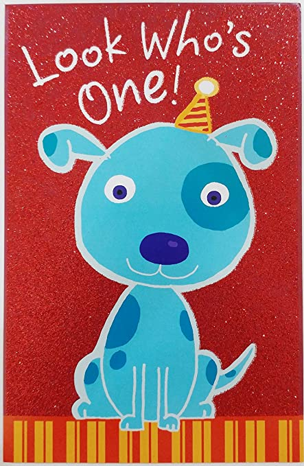 Amazon Com Look Who S One Happy 1st Birthday Greeting Card